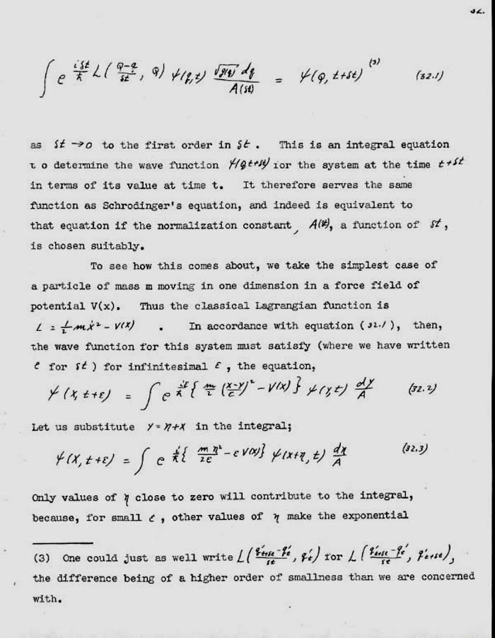 feynman thesis Richard feynman's never previously published doctoral thesis formed the heart of much of his brilliant and profound work in theoretical physics entitled the.
